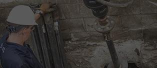 man working on foundation
