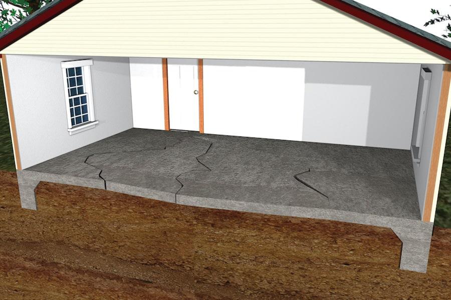 diagram of basement cracks