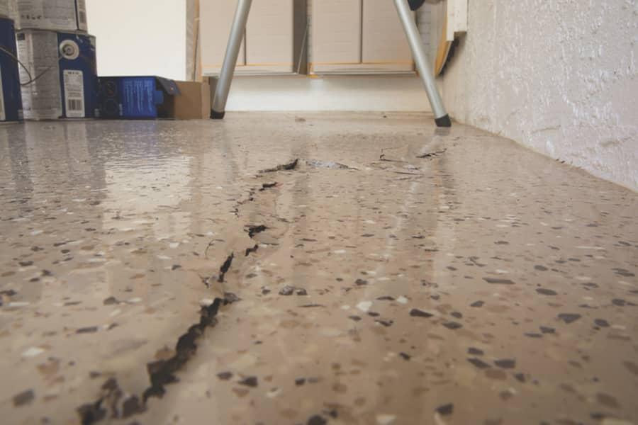 Garage floor crack