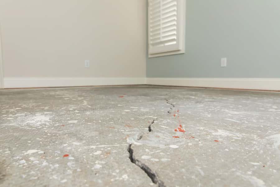 Interior floor crack