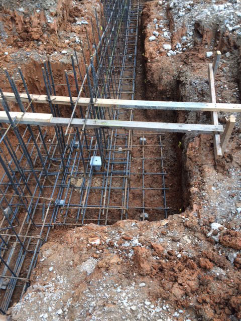 new construction helical pier installation