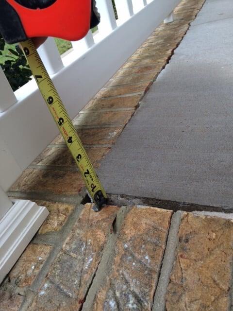 measuring patio gap