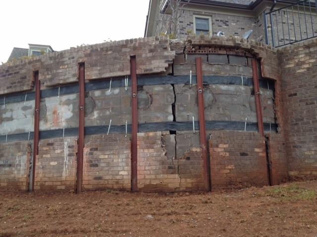 carbon fiber retaining wall