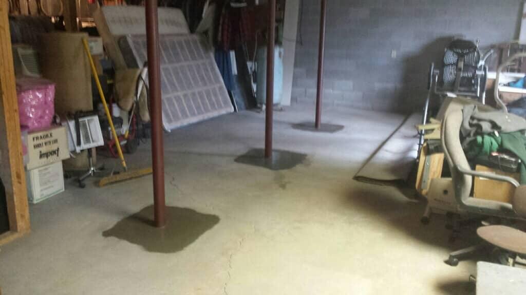 Cemented new basement columns