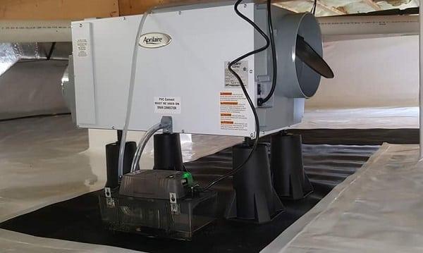 Aprilair dehumidifier in crawl space