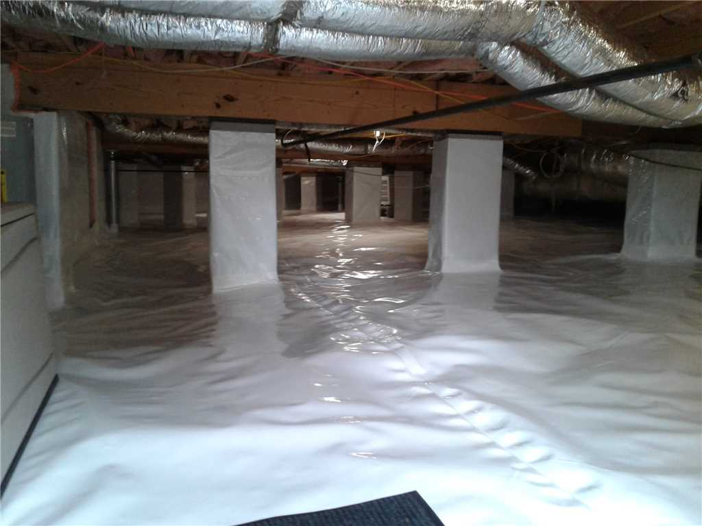 waterproofed crawl space in Tennessee