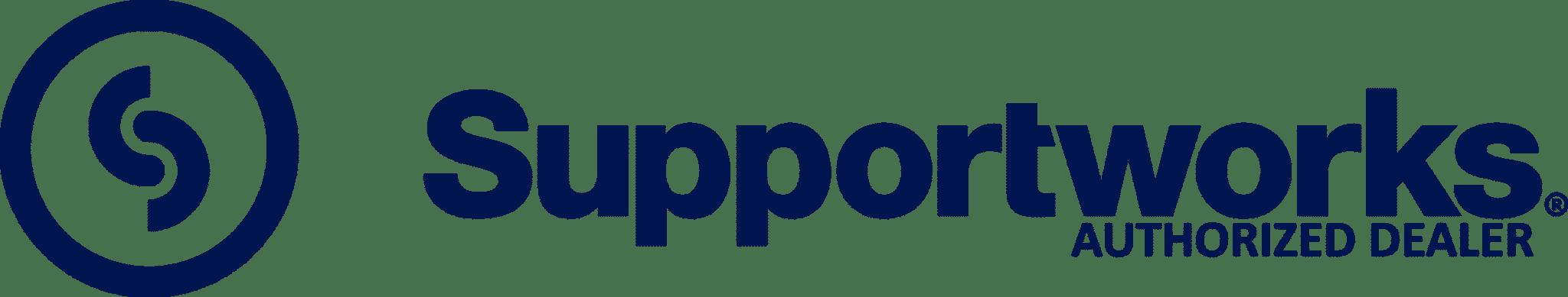 Supportworks authorized dealer logo